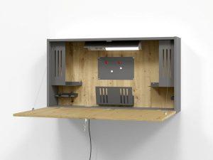 VWO12 Mini Office Wandschrank